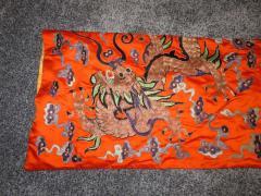 Stunning Chinese Silk Gold Thread Embroidered Dragon Kimono Robe Wall Hanging - 1550190