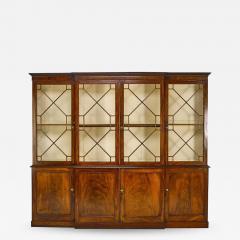 Stunning George III mahogany breakfront - 1388344