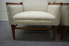 Stunning Pair of American Mid Century Modern Walnut Lounge Chairs - 1796234