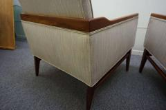 Stunning Pair of American Mid Century Modern Walnut Lounge Chairs - 1796235