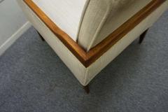 Stunning Pair of American Mid Century Modern Walnut Lounge Chairs - 1796240