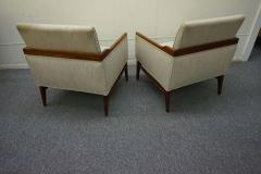 Stunning Pair of American Mid Century Modern Walnut Lounge Chairs - 1796241