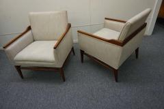 Stunning Pair of American Mid Century Modern Walnut Lounge Chairs - 1796242
