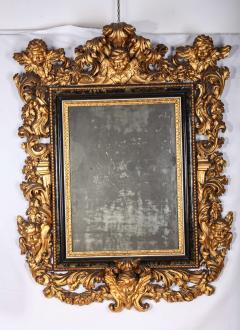 Stunning Pair of Carved Italian Giltwood Mirrors 17th Century - 632412