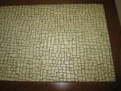 Stunning Pair of Mosaic Top Mid Century Modern Nightstands - 1843429