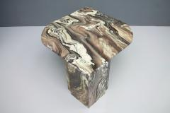 Stunning Sculptural Marble Coffee Italy 1970s - 1268481