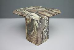Stunning Sculptural Marble Coffee Italy 1970s - 1268482