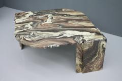 Stunning Sculptural Marble Coffee Italy 1970s - 1268484