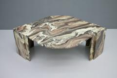 Stunning Sculptural Marble Coffee Italy 1970s - 1268485