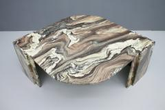 Stunning Sculptural Marble Coffee Italy 1970s - 1268487