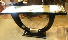 Stunning U Shaped Base Art Deco Modernist Console - 123278