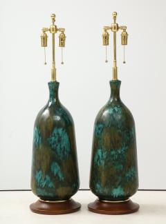 Stunning pair of Large Italian Ceramic Lamps  - 1924225