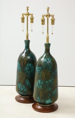 Stunning pair of Large Italian Ceramic Lamps  - 1924227