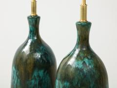 Stunning pair of Large Italian Ceramic Lamps  - 1924230