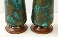 Stunning pair of Large Italian Ceramic Lamps  - 1924232