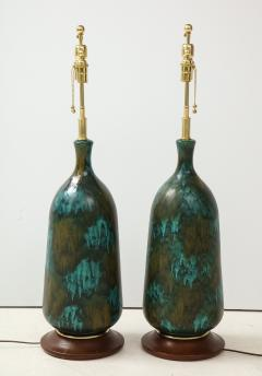 Stunning pair of Large Italian Ceramic Lamps  - 1924235