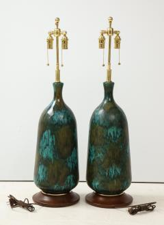 Stunning pair of Large Italian Ceramic Lamps  - 1924237
