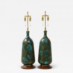 Stunning pair of Large Italian Ceramic Lamps  - 1926958