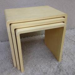 Style of Jean Michel Frank Parchment Stacking Tables - 95241