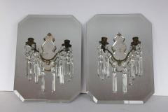 Stylish Antique French Mirrored Wall Sconces - 688655
