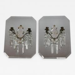 Stylish Antique French Mirrored Wall Sconces - 689504