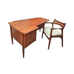 Stylish Danish Desk In Teak 1950s - 1529657