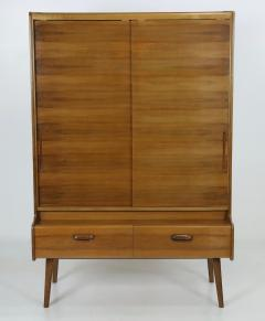 Stylish Scandinavian Modern Walnut Bookcase Cabinet - 2132575