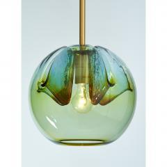 Suite of Four Blown Colored Glass Pendant Lanterns - 951771