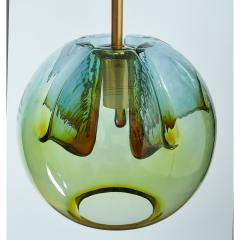 Suite of Four Blown Colored Glass Pendant Lanterns - 951773