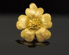 Sun Flower Earrings in 18 Kt Yellow Gold - 605963