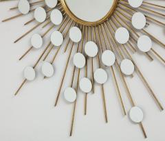Sunburst Mirror with Spokes of Smaller Mirrors - 1155351