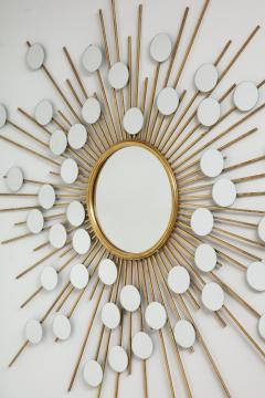 Sunburst Mirror with Spokes of Smaller Mirrors - 1155352