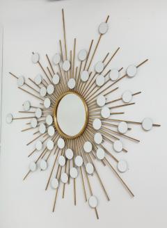 Sunburst Mirror with Spokes of Smaller Mirrors - 1155353