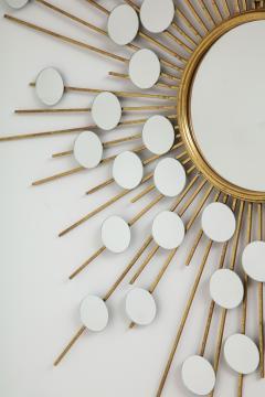 Sunburst Mirror with Spokes of Smaller Mirrors - 1155354