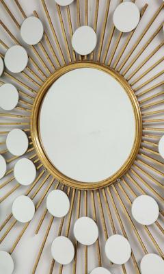 Sunburst Mirror with Spokes of Smaller Mirrors - 1155355