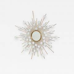 Sunburst Mirror with Spokes of Smaller Mirrors - 1155957