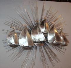 Sunburst Shaped Moderne Wall Sculpture Sconce - 658835