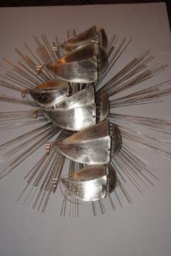 Sunburst Shaped Moderne Wall Sculpture Sconce - 658836