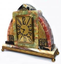 Superb Art Deco French Marble clock 1930s - 1105916