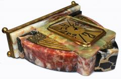 Superb Art Deco French Marble clock 1930s - 1105920