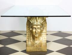 Superb Bronze Pharaoh Head Dining Table - 1116745