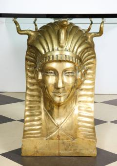 Superb Bronze Pharaoh Head Dining Table - 1116748