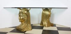 Superb Bronze Pharaoh Head Dining Table - 1116752