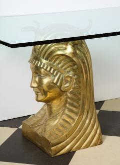 Superb Bronze Pharaoh Head Dining Table - 1116754