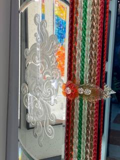 Superb Venetian Multicolor Murano Glass Mirror - 2057468