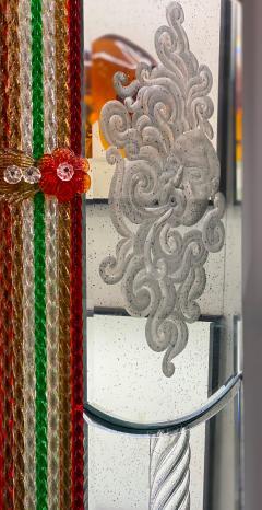 Superb Venetian Multicolor Murano Glass Mirror - 2057471
