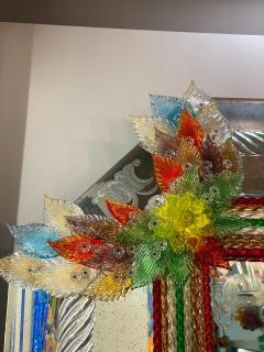Superb Venetian Multicolor Murano Glass Mirror - 2057473