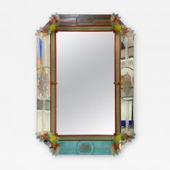 Superb Venetian Multicolor Murano Glass Mirror - 2060142