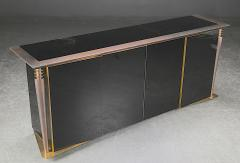 Superb design 4 door cabinet with beautiful gold bronze and brushed steel accent - 1445892