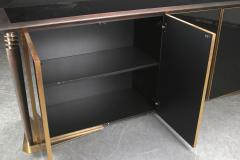 Superb design 4 door cabinet with beautiful gold bronze and brushed steel accent - 1445899